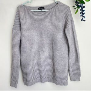 W. By Wantable gray knit sweater small